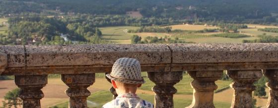 Boy looking at view